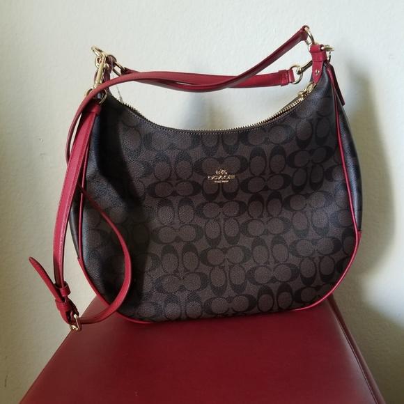 88f0c455 Coach Signature PVC Hobo Bag NWOT